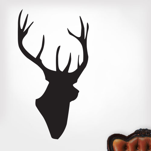 View Product Deer Bust  Wall Decal