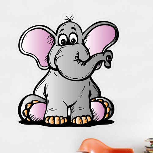 View Product Cartoon Elephant Wall Decal