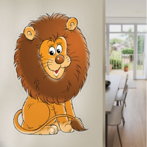 View Product Cartoon Lion Wall Decal