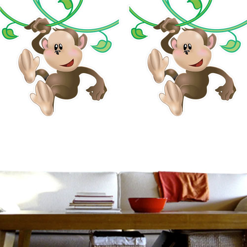 View Product Monkey On Vine Wall Decal