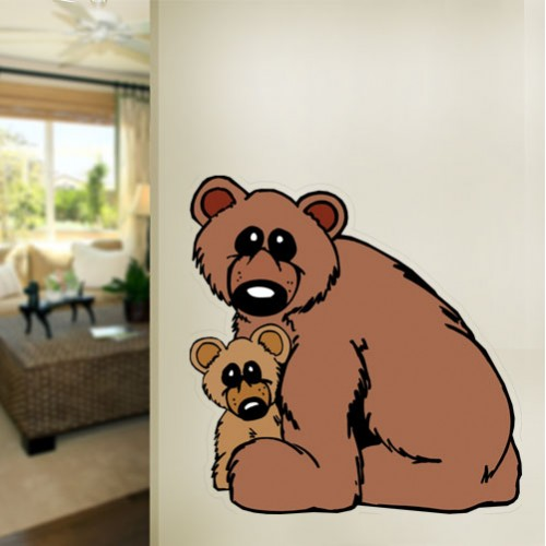 View Product Bear Family Wall Decal