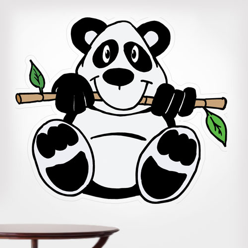 View Product Panda With Bamboo Wall Decal