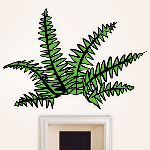 View Product Cartoon Fern Wall Decal