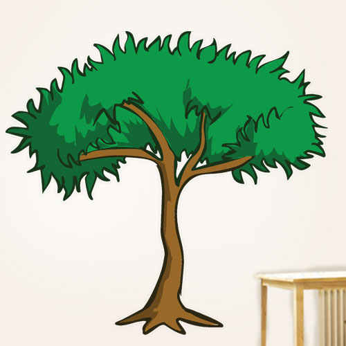 View Product Cartoon Jungle Tree Wall Decal