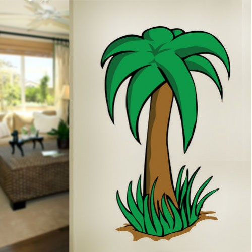View Product Cartoon Palm Tree Wall Decal