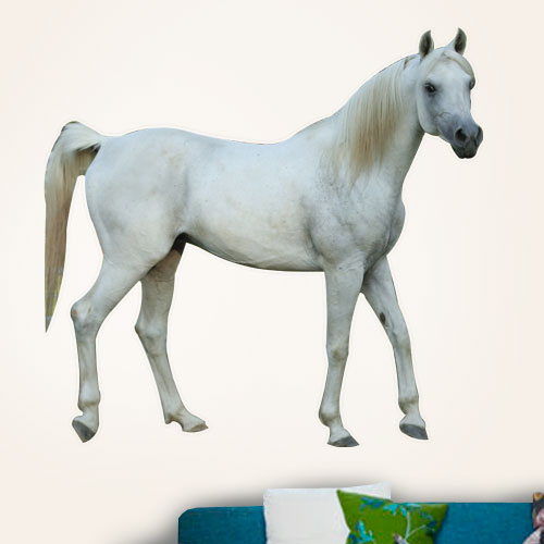 View Product White Stallion Wall Decal