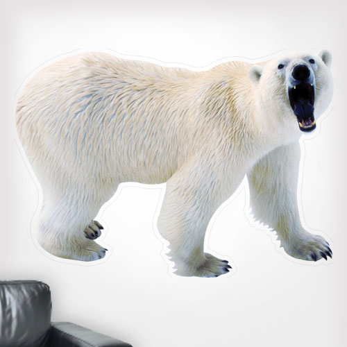 View Product Polar Bear Growling Wall Decal