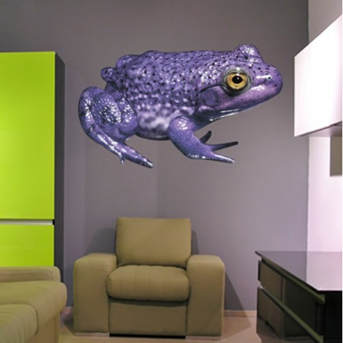 View Product Purple Pignose Frog Wall Decal