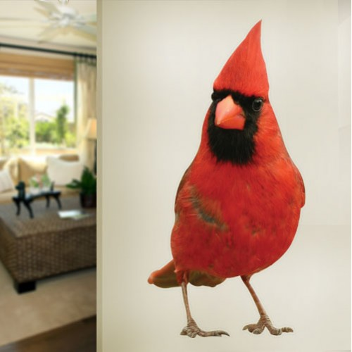 Northern Male Cardinal Wall Decal