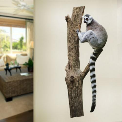 View Product Rainforest Ring tailed Lemur Wall Decal