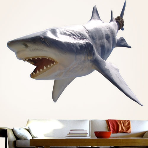 View Product Great White Shark Wall Decal