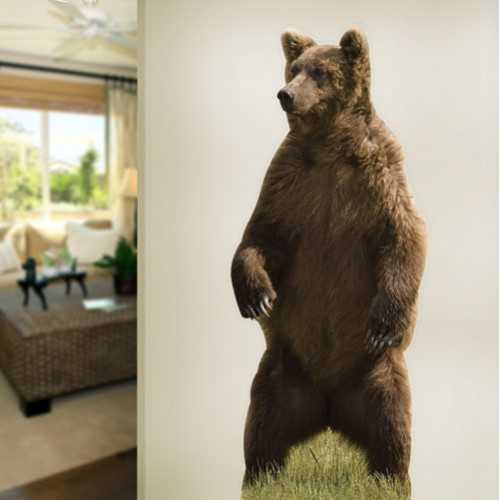 View Product Brown Bear Standing Wall Decal