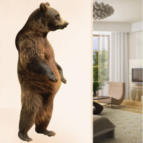 View Product Grizzly Bear Standing Wall Decal