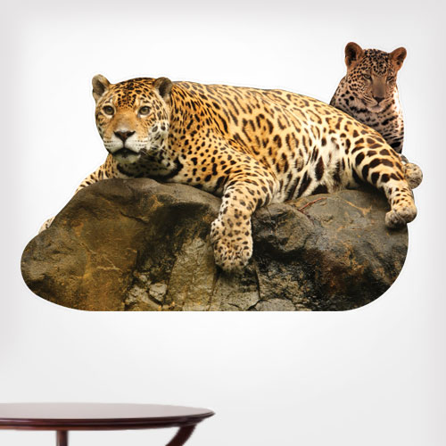 View Product jaguar and baby Wall Decal