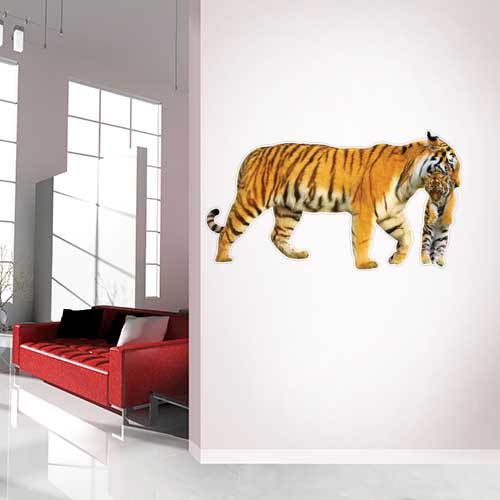 View Product Tiger and cub Wall Decal
