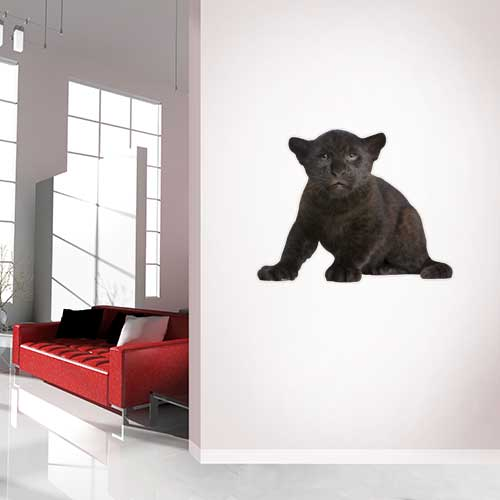 View Product Black Leopard Cub Wall Decal