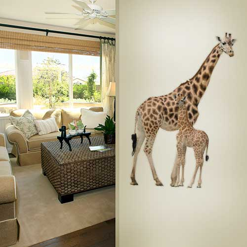 View Product Giraffe Mother and Baby Wall Decal