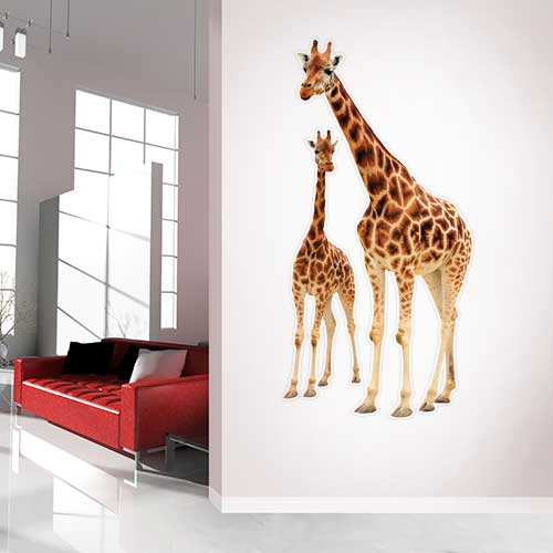 View Product Giraffe family Wall Decal