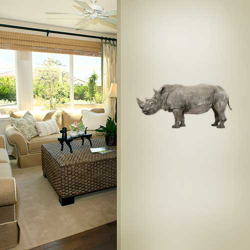 View Product Rhino With Baby Wall Decal