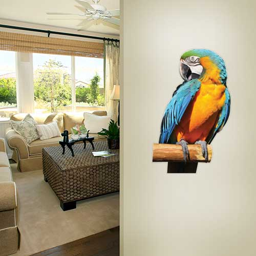 Blue Parrot Wall Decal