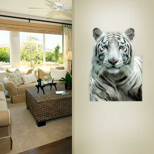 View Product White Tiger 3 Wall Decal