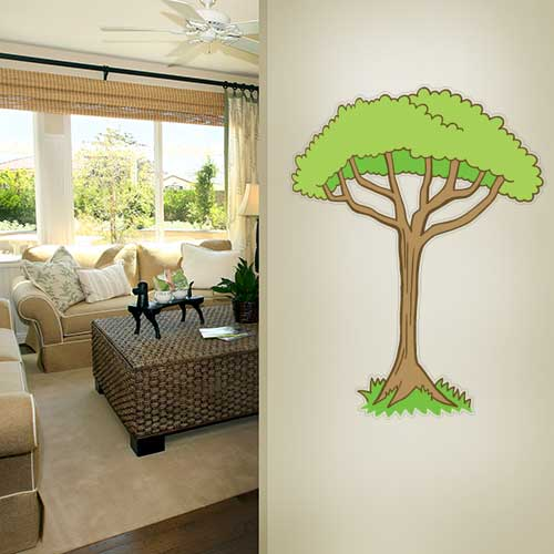 View Product Cartoon Jungle Tree 2 Wall Decal