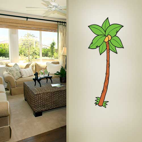 View Product Cartoon Palm 5 Wall Decal