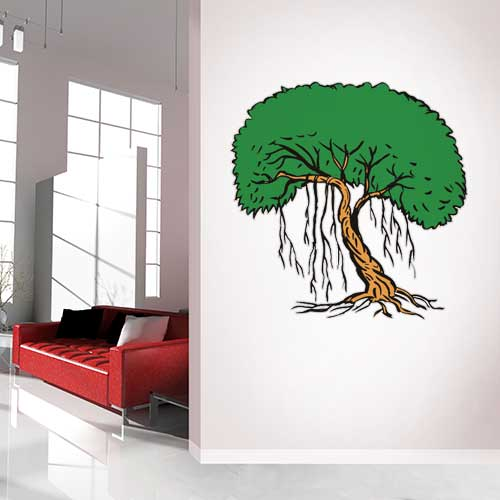 View Product Tree with vines Wall Decal
