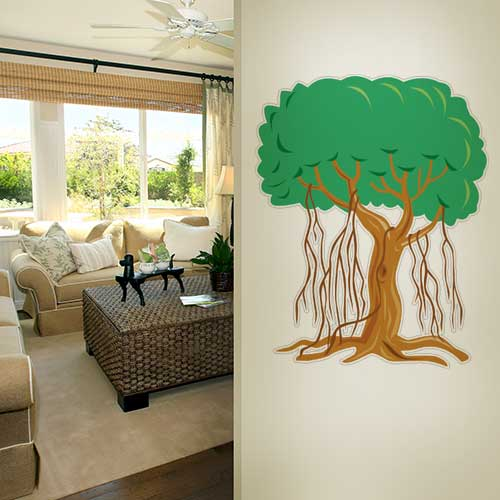 View Product Tree vines 2 Wall Decal
