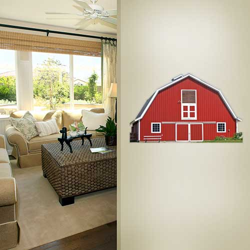 View Product Red Barn Wall Decal