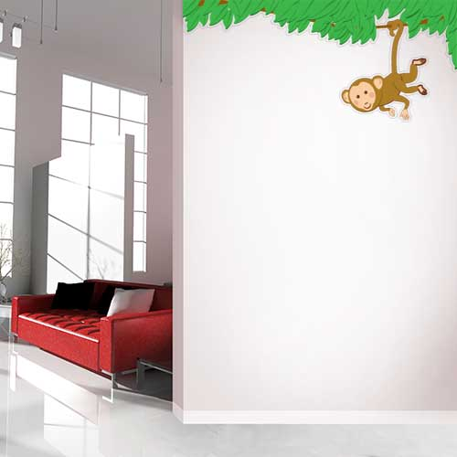 View Product Monkey Border Wall Decal