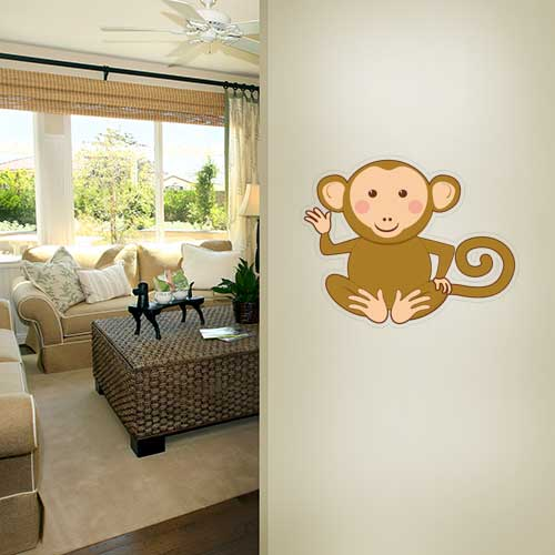 View Product Sitting Monkey Wall Decal