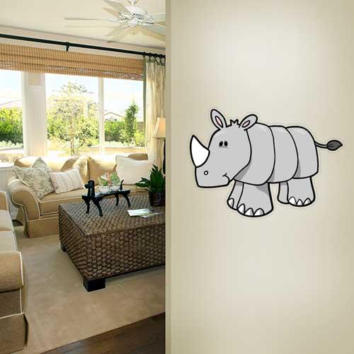 View Product Cartoon Rhino Wall Decal