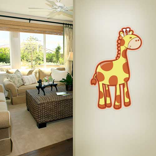 View Product Silly Giraffe Wall Decal