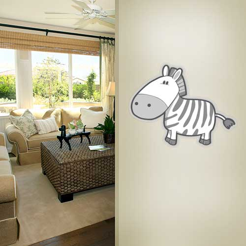 View Product Silly Zebra Wall Decal