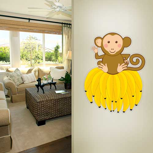 View Product Monkey on bananas Wall Decal