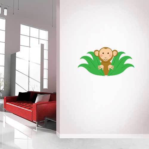 View Product Monkey Peaking Wall Decal