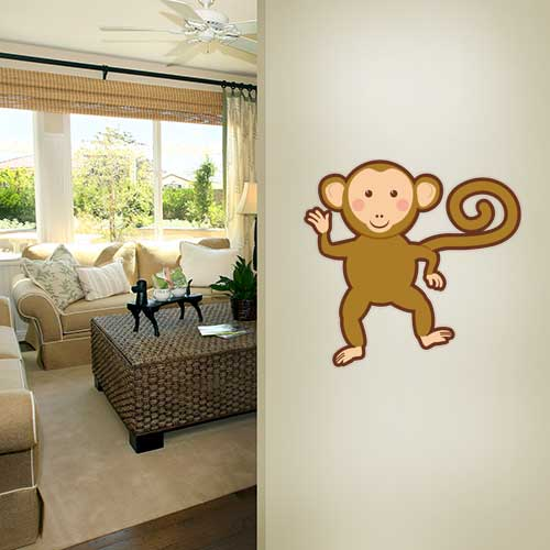 View Product Monkey Dancing Wall Decal