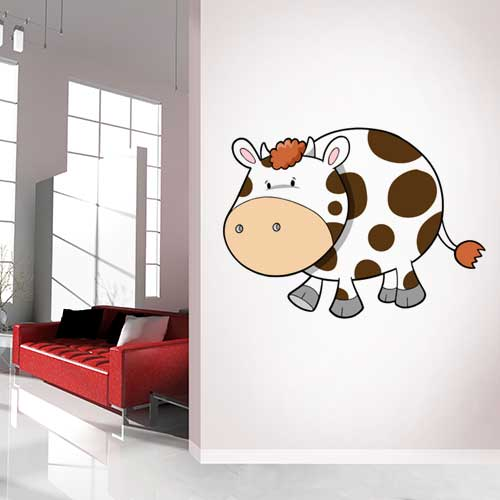 View Product Baby Cow Wall Decal