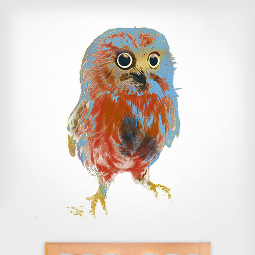 Water Colour Owl Wall Decal