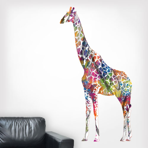 View Product Giraffe MultiColored Wall Decal