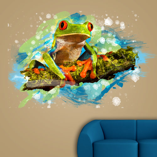 View Product Tree Frog Wall Decal