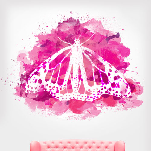 View Product Watercolor Butterfly Wall Decal