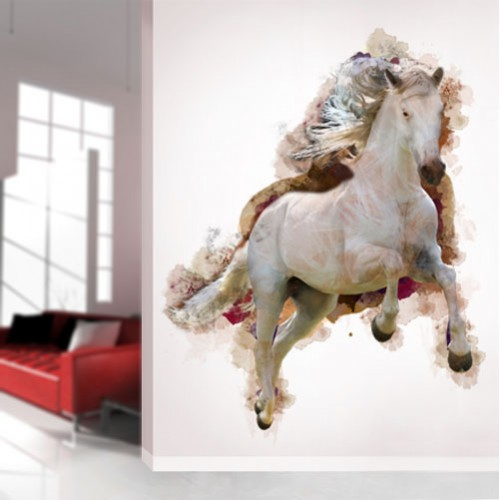 View Product Watercolor Horse Running Wall Decal