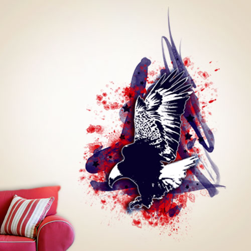 View Product Bald Eagle Patriotic Wall Decal